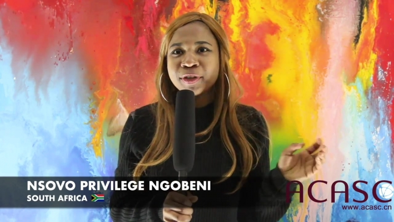 ACASC Study in China - Nsovo Privilege Ngobeni from South Africa
