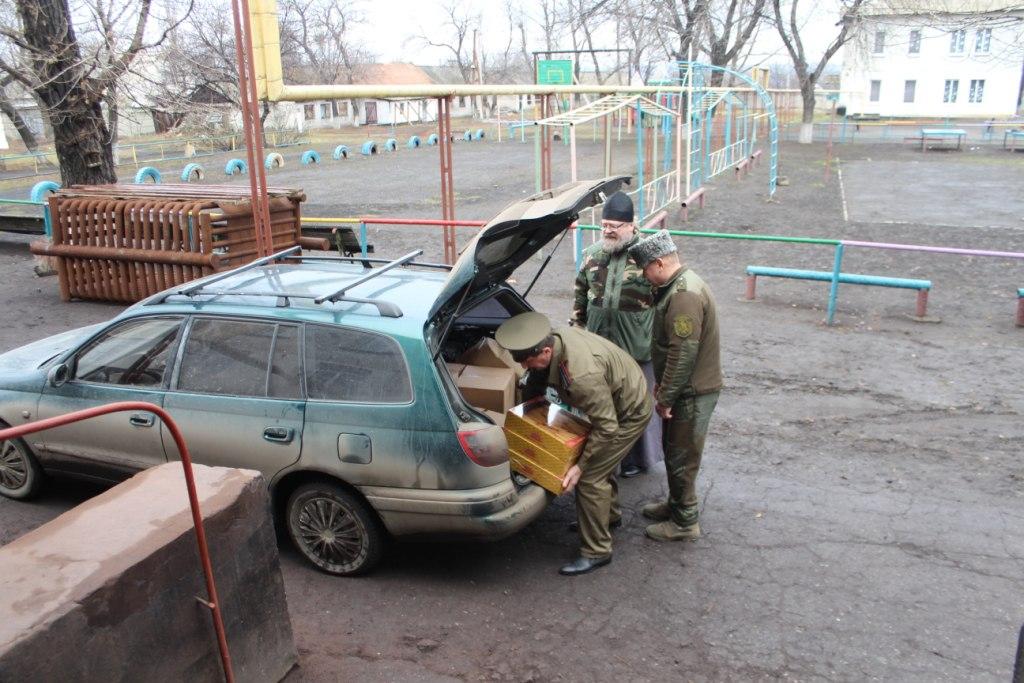 Луганские казаки передали детям Белореченского интерната новогодние подарки