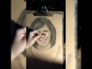 Процесс создания женского портрета