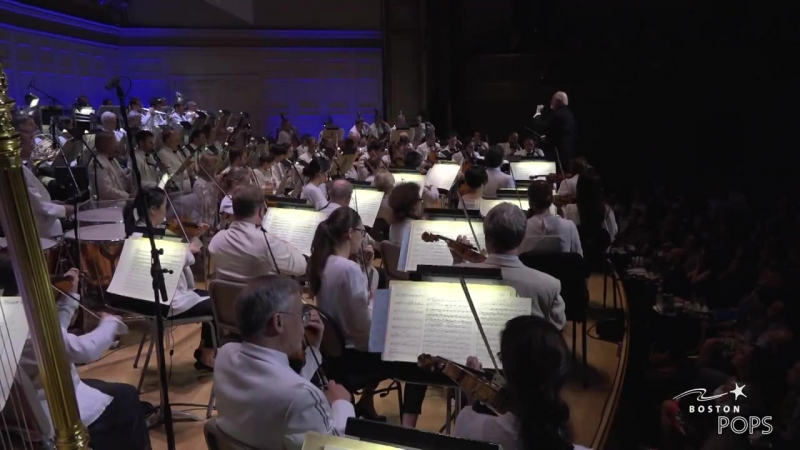 John Williams conducting Boston Pops (Film Night)