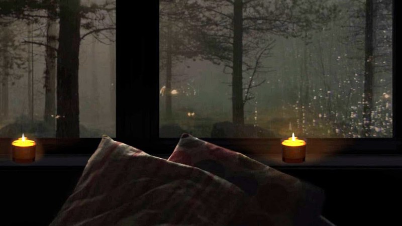 10 Hours Rain Thunder | Nature White Noise | Rain on Old Wooden Home Ambiance