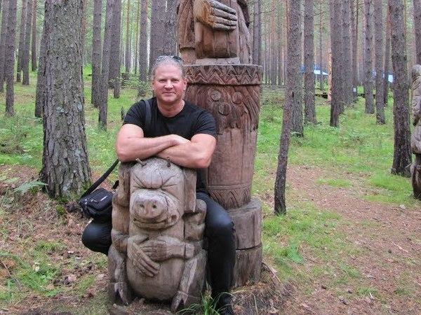 098 Парк деревянные скульптуры России Park wooden sculpture carving резьба по дереву бензопилой арт