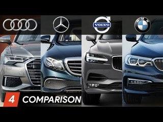 2019 Audi A6 Vs BMW 5 Series Vs Mercedes E Class Vs Volvo S90 ► Design & Specifications Comparison