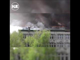 В Кишиневе загорелся институт микробиологии