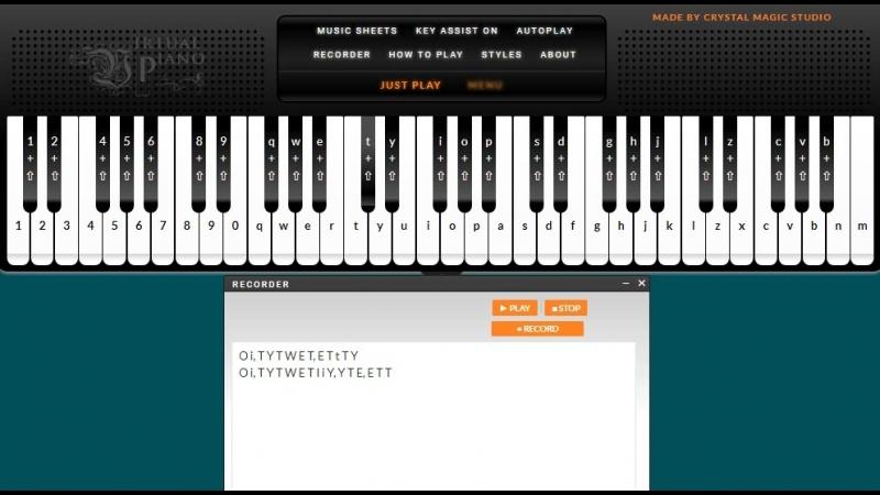 Tem Shop Virtual Piano Sheets магазин Темми виртуальное пианино ноты