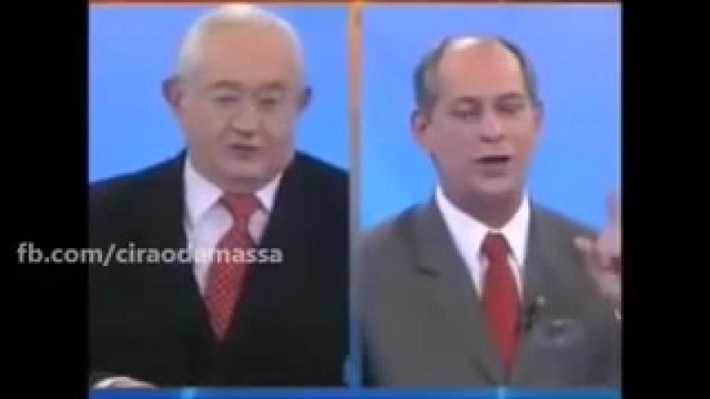 Ciro Gomes enfrenta Boris Casoy