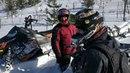 Заехали на г Воттоваара на сноубайке и снегоходах