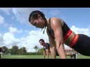 The MIAMI UNITED F C team took their first Strong By Zumba class and they didn't miss a beat