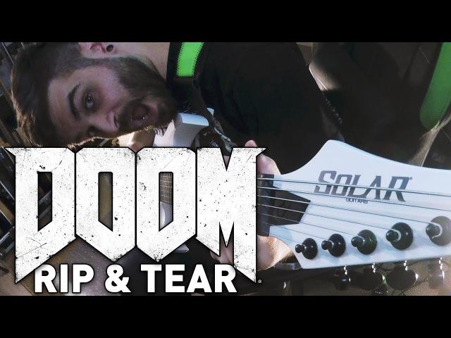Doom OST - Rip Tear Guitar Cover - Andrew Baena Paul Ozz