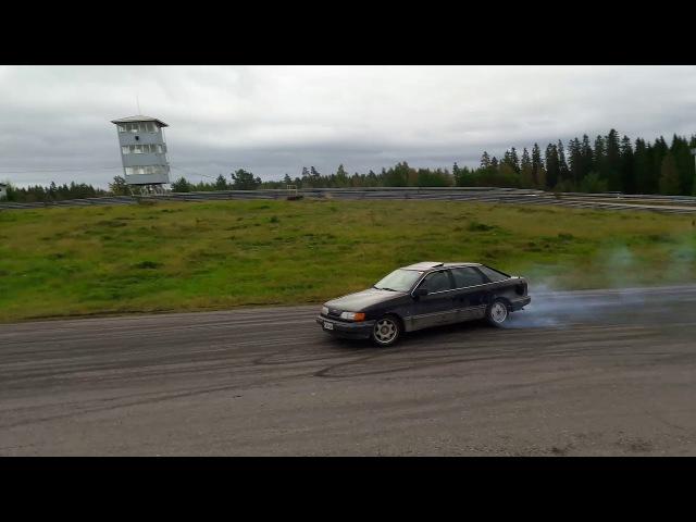 Ford Scorpio M50 turbo drifting @ BTCF trackday 16.9.2017 on Nokian UA track