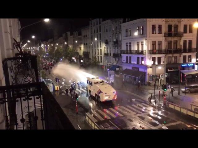 Холодный душ для горячих фанатов бельгийская полиция разогнала марокканских б