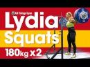 Лидия Валентин и присед 180х2 на Чемпионате Мира 2017 по тяжёлой атлетике