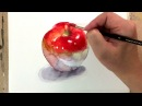 Watercolor Painting Tutorial Apple 사과 그리기 수채화