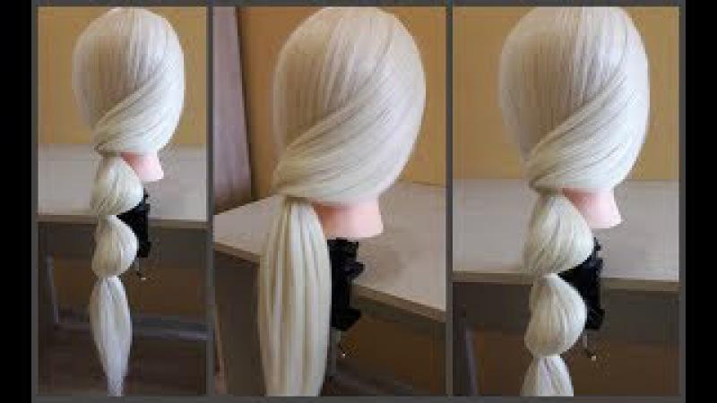 Легкая прическа своими руками за 5 минут Моя новая идея🌸👍Easy hairstyle for 5 minutes My new idea