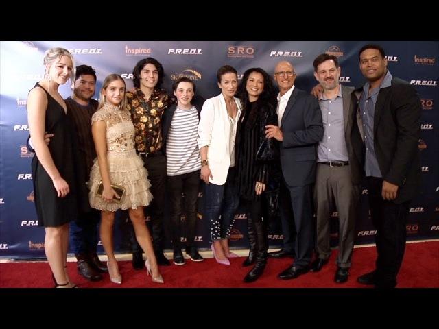 """F.R.E.D.I."" Screening Red Carpet Kelly Hu, Chloe Lukasiak, Casimere Jollette"