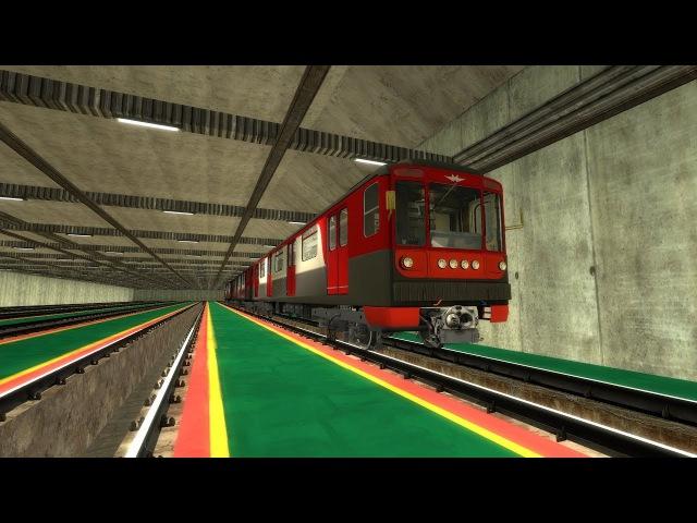 №1 Crossline на 81-717(МВМ) (Metrostroi)