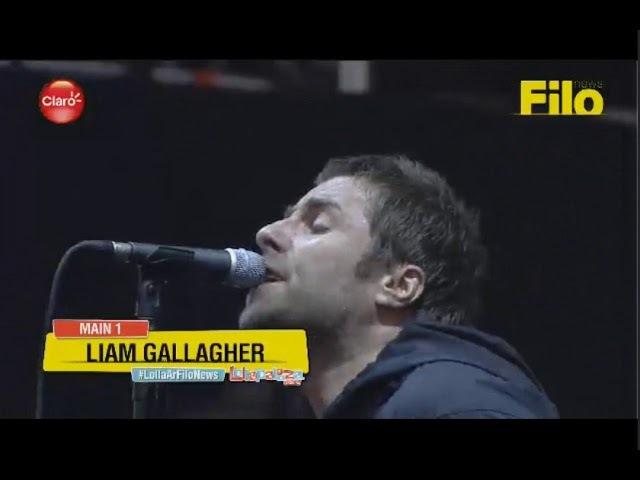 Liam Gallagher - Morning glory/Greedy Soul (Lollapalooza Argentina 2018)