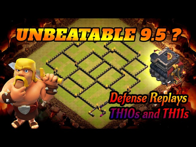 Best TH 9.5 War Base ? | Defending Against Th10s and Th11s | Anti 3 Star TH9.5 2017 | Clash of Clans
