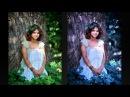 Красивый эффект в Фотошопе Синяя листва за 1 минуту