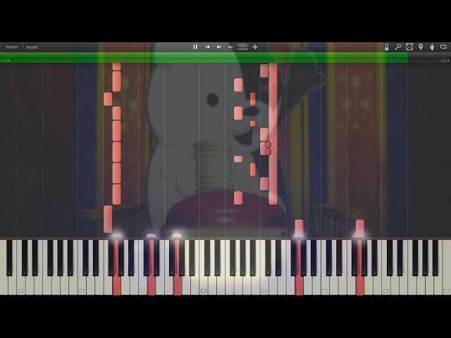 Danganronpa (ダンガンロンパ) - Opening Never Say Never - Synthesia Piano HD