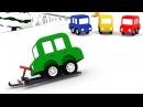 Cartoni animati per bambini - Le macchinine colorate e lo slittino da neve