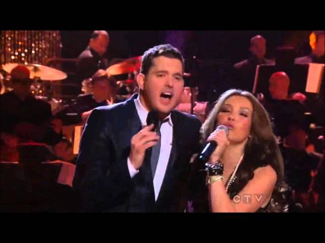 Michael Buble ft Thalia Mis Deseos Feliz Navidad HD - canciones navideñas HD - Thalia HD