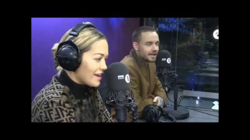 Рита и Лиам Пейн в студии радиостанции «BBC1» – 12 января