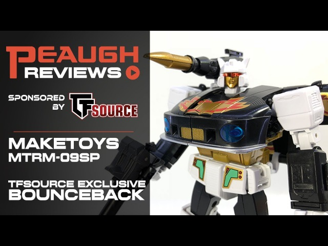 Video Review Maketoys MTRM 09SP BOUNCEBACK w Recoil TFsource Exclusive