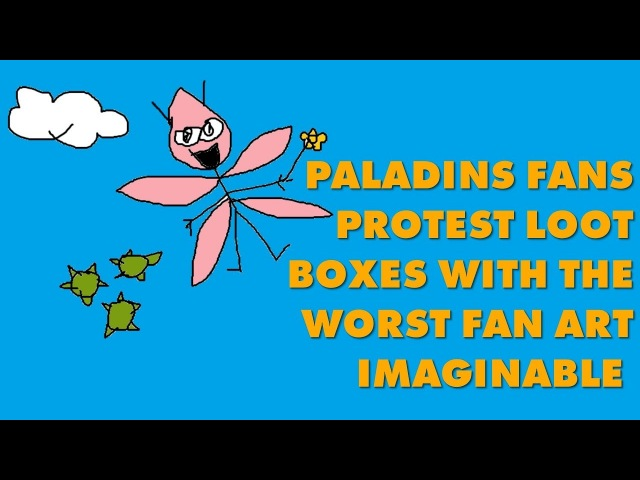 Paladins Fans Protest Pay-To-Win Loot Boxes With Hilarious Low-Effort Fan Art