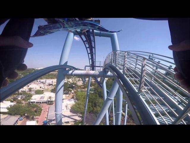 Русские в Америке 19 - Manta Roller Coaster Sea World Orlando, Florida
