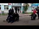 Zaj*bał policjantom gazem po oczach Dres z Wrocławia kręci akcję pod komendą