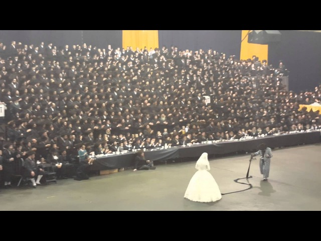 Mitzvah Tantz Bobov 45 Youngest Child Wedding in Armory