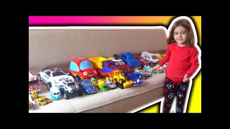CEMRE SU OYUNCAK ARABALARIYLA RENKLERİ İNGİLİZCE ÖĞRENİYOR -learn colors with cars