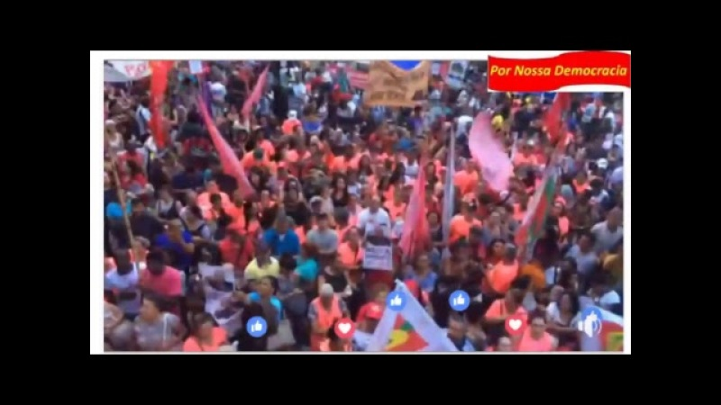 Ao Vivo Ato na Paulista contra a Reforma da Previdência