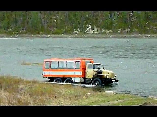 КАМАЗы и УРАЛы в воде! Подводной лодкой, в принципе, может стать любой КАМАЗ и УРАЛ! Подборка