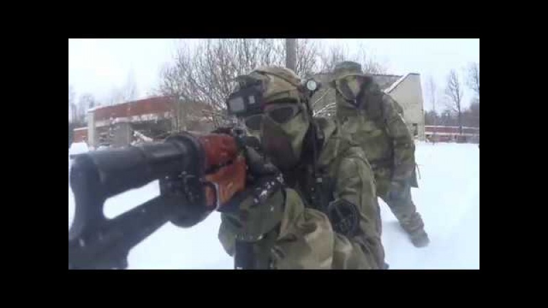 Crazy russian airsoft in the snow