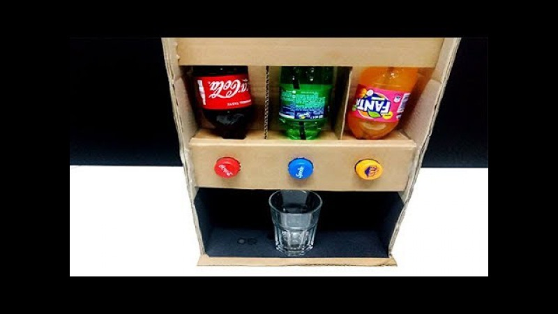 How To Make Dispenser Fountain Machine No Electricity Coca-Cola Fanta Sprite Soda Drink HOME MADE