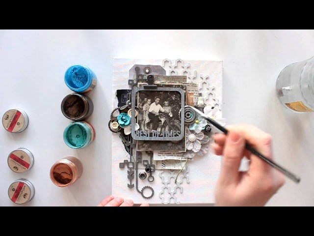Elena Morgun canvas Best of times tutorial for Blue Fern Studios