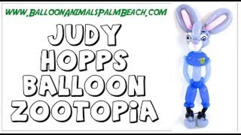 How To Make A Judy Hopps Balloon from Zootopia - Balloon Animals Palm Beach