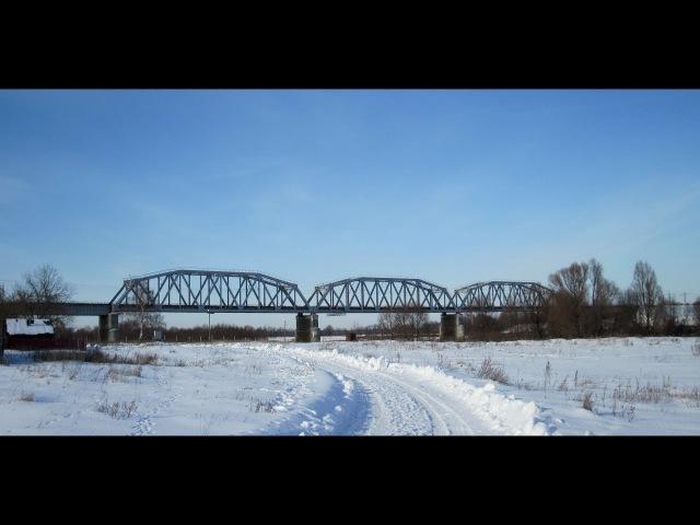 Железнодорожный мост через Клязьму между Владимирской и Нижегородской областью