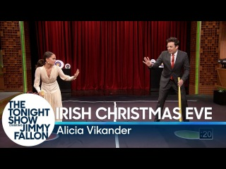 Alicia Vikander Teaches Jimmy a New Swedish Game