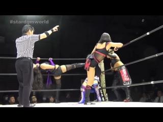 Kagetsu, Hana Kimura, Natsu Sumire vs. Mayu Iwatani, Hiromi Mimura and Konami (STARDOM in Osaka)