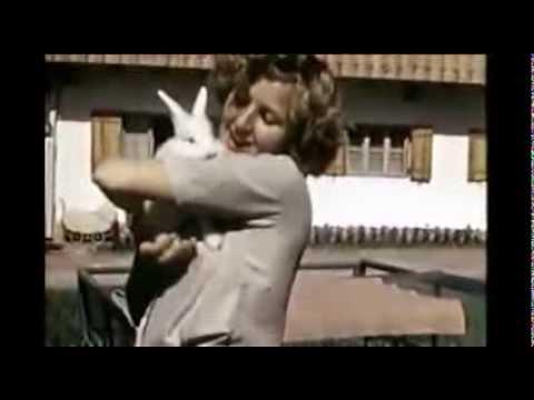 Eva Braun and her evil rabbit (home video)