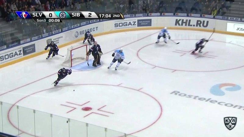 Моменты из матчей КХЛ сезона 17 18 • Гол 1 2 Чичу Джонатан Слован сокращает разрыв в счете в большинстве 30 11