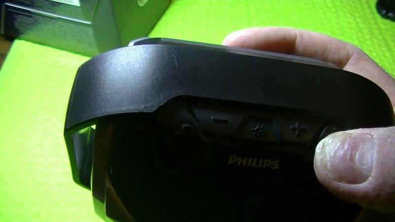 --Обзор мега защищенной беспроводной bloutooth колонки philips sb300b--