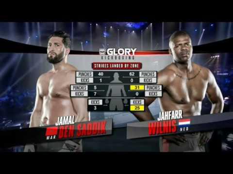 Jamal Ben Saddik vs Jahfarr Wilnis Full Fight GLORY 53 Part 2