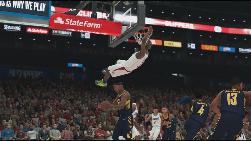 NBA 2K18 My Career 86 Pacers vs Clippers New Badge