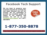 Adept in solving all Facebook conundrums Facebook tech support 1-877-350-8878