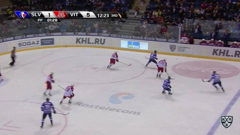 Моменты из матчей КХЛ сезона 17 18 • Удаление Чичу Джонатан Слован за задержку руками 03 02