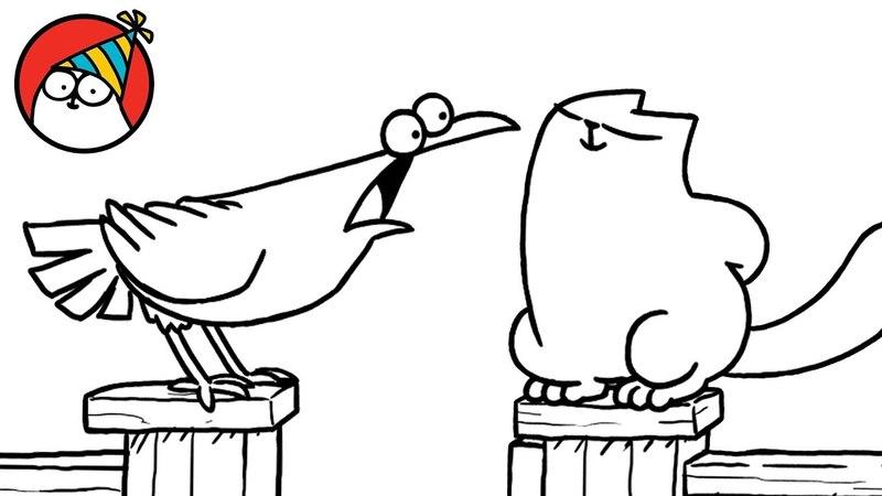Кот Саймона и ворона
